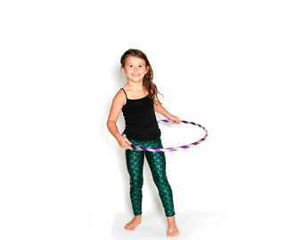 Mermaid Leggings for Kids in Emerald