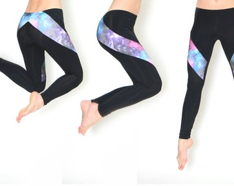 Galaxy Leggings Slash Style Hand Made Leggings
