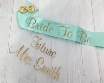 MANY COLORS, Custom Bachelorette Veil and Sash, Bachelorette Veil, Personalized Veil, Bride to Be Veil, Bachelorette Party