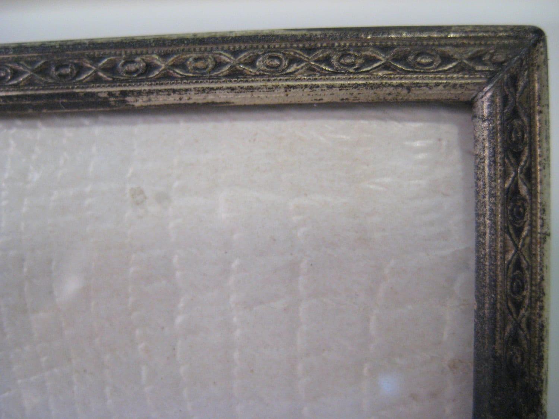 Vintage photo frame overton originals convex glass silver plate get shipping estimate jeuxipadfo Image collections