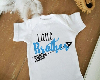 Little Brother Boho Bohemian Arrow Baby Bodysuit Customize Color Baby Top
