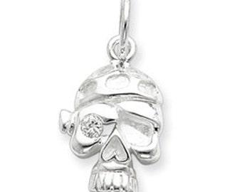 CZ Skull w/ Bandana (JC-682)