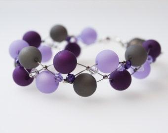 Bracelet gray purple