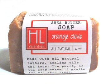 Orange Clove Shea Butter Soap