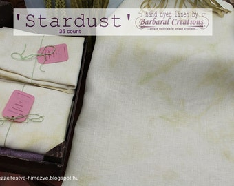 Hand dyed 35 count linen fabric for cross stitch and embroidery - 'Stardust'