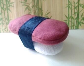 Sushi Pillow Musubi Huggable Plush Nigri Spam on Rice 14 x 8 x 8 inches