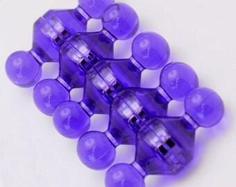 Magnet Pins - Jewel - Medium - Purple - Neodymium Rare Earth