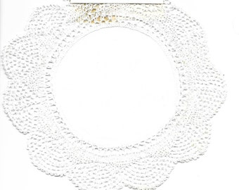 "8"" Round 100% Cotton Doily - Wimpole Street Creations - NEW"