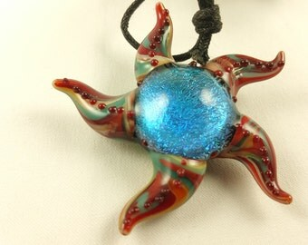 Starfish - Glass Pendant Necklace
