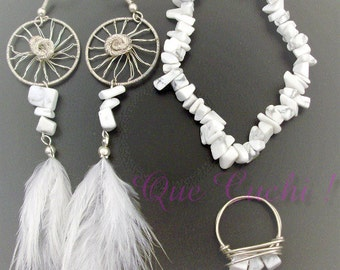 Catches Dreams  Set with  Howlite chips