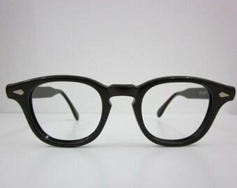 Rare Vintage NOS Regency Eyewear Tart Arnel 44/22 Horn Rimmed Eyeglasses Johnny Depp Dean