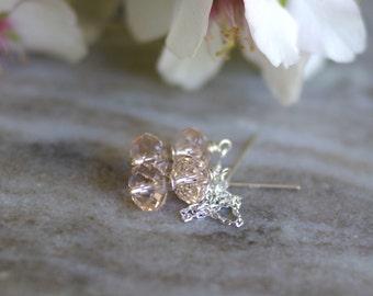 Swarovski elements ear threads, silver threader earrings, Swarovski earrings, gift for her, wedding jewelry, Swarovski elements earrings
