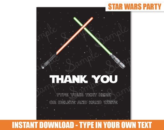 Star Wars Thank You Card Star Wars Thank You by ...