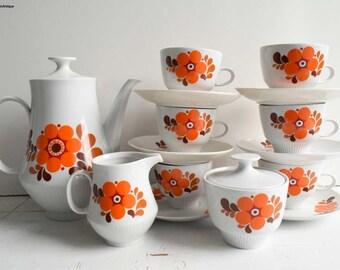 Vintage Colditz Made in GDR (Germany) Porcelain Completed Coffee Set