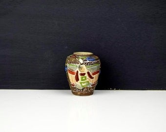Vintage Small Satsuma Handpainted Earthenware vase