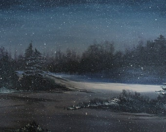 Snowy Winter Nght