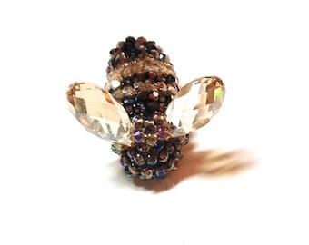 Queen Bee Crystal Beaded Bee