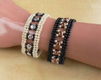 Gaby - Beading Pattern to make a Bracelet - Diamond Weave - Tutorial only - PDF Direct Download