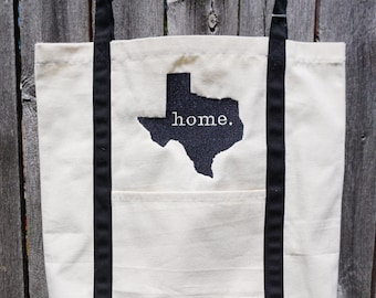 Texas Tote Bag, Texas bag, tote bag, home, tote, bag, canvas, striped bag, beach bag, beach tote, texas tote, home tote, striped tote,