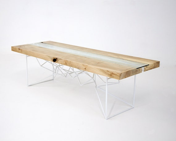 Live Edge Natural Edge Reclaimed Modern Coffee by moderncre8ve