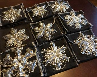 Sterling Silver Gorham Christmas Snowflake Ornament Pendant 1971 1972 1973 1974 1975 1977 1978 1981 1982 1983 1984 1986 1987 1988 1989 Metal