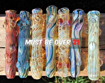 Handmade Glass Tobacco Cigarette Holder Chillum