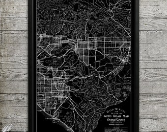 Map of Orange County Print, Wall Decor for your Home or Office