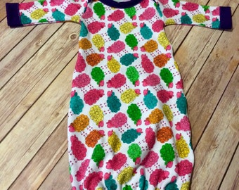 Colorful Sheep Newborn Knit Gown