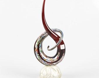 Murano Glass Sculpture - murrine genuine Italian piece - Trademark of Origin Guaranteed NODO D'AMORE