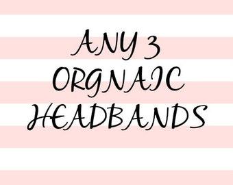 Any 3 Organic Headbands