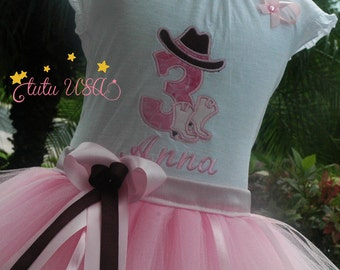 Cowgirl Birthday Girl Outfit, Pink Cowgirl First Birthday Outfit, Cowgirl 3rd Birthday Tutu Outfit, 2nd Birthday Girls Outfit, Pink Tutu