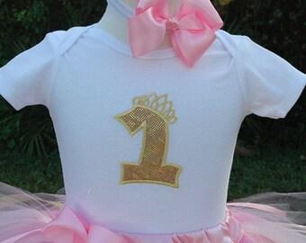 Baby Girl 1st Birthday Onesie