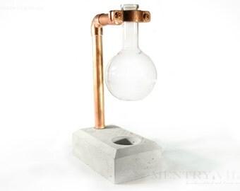 Handmade Copper & Concrete Essential Oil Diffuser
