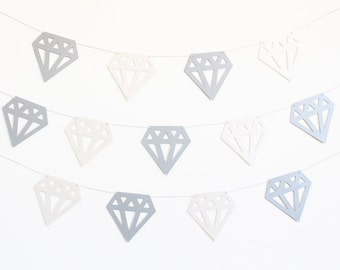 Diamond Party Banner for Bachelorette Party - Customizable Colors