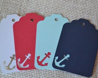"Nautical Gift Tags, Anchor Tags (3.25 x 1.125"")  6 Tags"