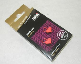 addi love  6 pieces stitch marker with heart, 407-2