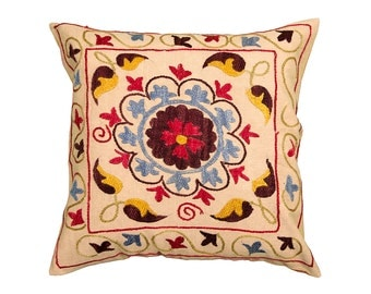 Cushion Cover - VINTAGE SUZANI DESIGN 7 - 40 x 40