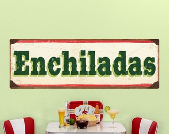 Enchiladas Mexican Food Wall Decal Cream - #62813