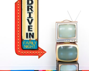 Drive In Movie Family Wall Decal - #47768