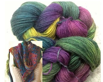 hand dyed silk alpaca merino mountain meadows great Adirondack