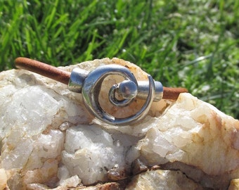 Brown Leather Swirl with Celtic Slider
