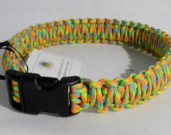 Paracord collar - Light neon colors
