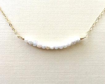 Silverite Necklace, Silverite Bar Necklace, Layering Necklace,