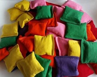 "Mini Cornhole Bags 2"", 3"", 4"" Kids Game"