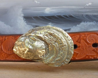 Cotuit Oyster Sea Shell Embossed Belt