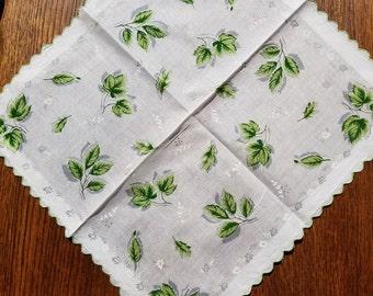 Vintage Linen Handkerchief  #15