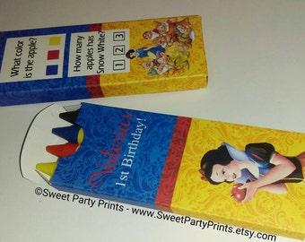 Snow White Crayon Favor ( SKU# SWCB01 )