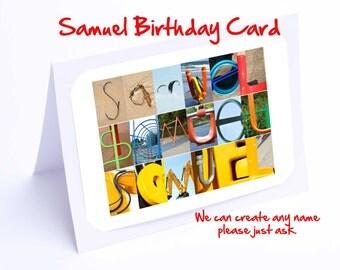 Samuel Personalised Birthday Card