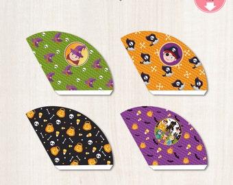 HALLOWEEN Snack Cones Treat Holder Halloween Party Favors - Trick or Treat - DIY -  Halloween Party Digital Files