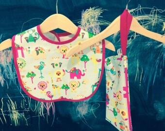 Toddler bibs and diaper bags